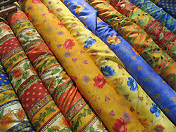Provencal fabrics are often available at market.