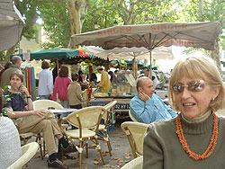 Margaret at the local market.